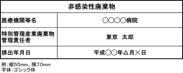 非感染性廃棄物容器表示例